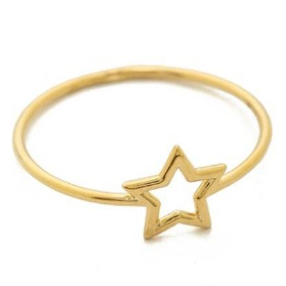 Thin Gold Star Ring