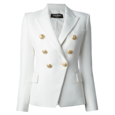 Structured Double Breasted Blazer