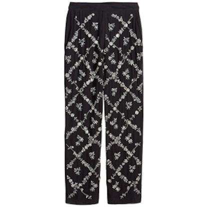 Rhinestone Embellished Pants
