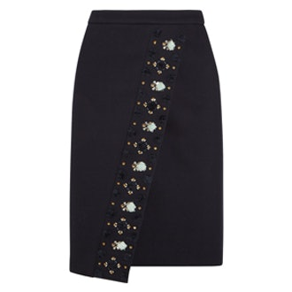 Embellished Twill Skirt