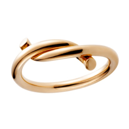 Entrelaces Ring in Pink Gold