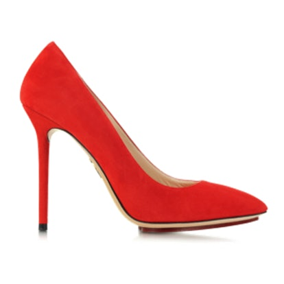 Monroe Red Suede Pump