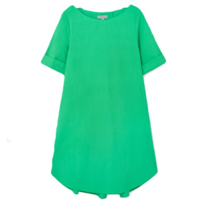 Pleated Back Dress in Green