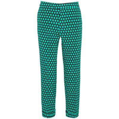 Cropped Printed Pants