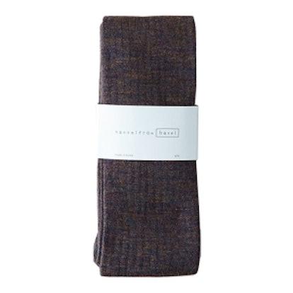 Grey Rib Wool Tights