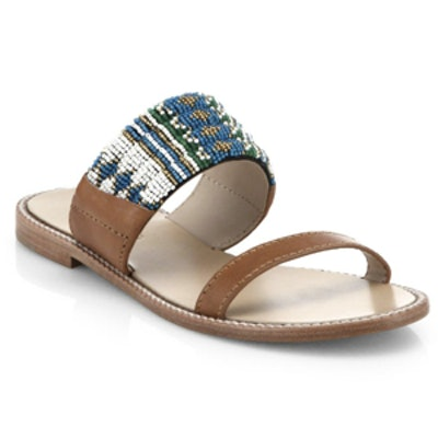 Nella Beaded Leather Sandals