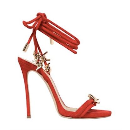 110MM Suede Wrap Around Sandals
