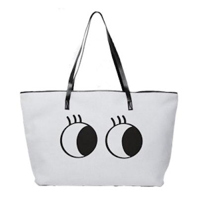 Scuba Novelty Eyes Shopper Bag