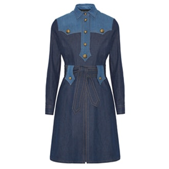 Two-Tone Denim Dress