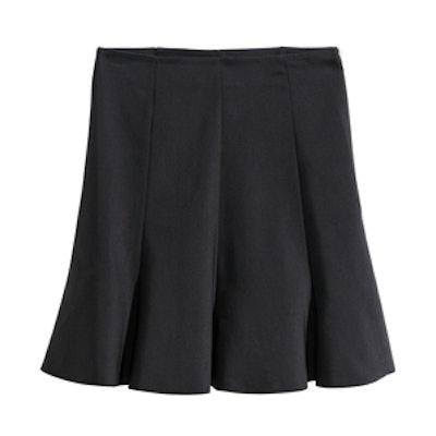 Black Flared Skirt