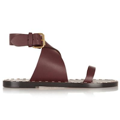 Janice Studded-Leather Sandal