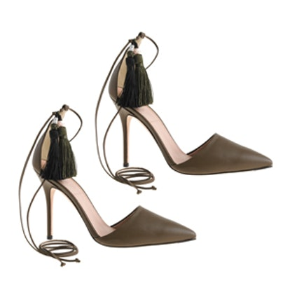 Roxie Ankle-Tie Pumps