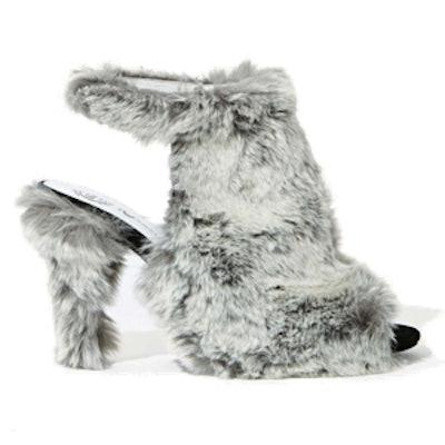 Faux-Fur Heel