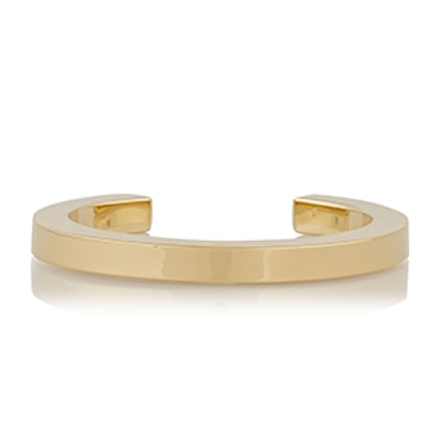 XL Square Wire Gold Plated Cuff