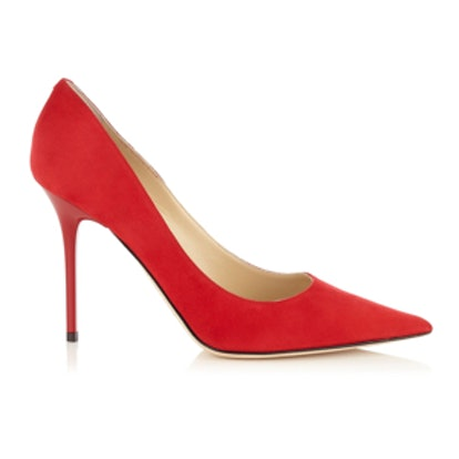 Abel Red Suede Pump