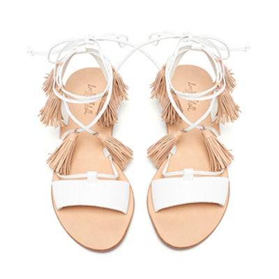 Saffron Ankle-Wrap Sandal