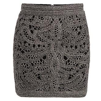 Jazz Crocheted And Lurex Mini Skirt