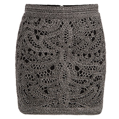 Jazz Crocheted And Lurex Mini Skirt