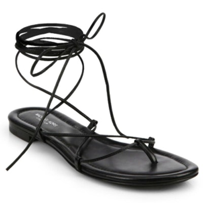 Bradshaw Lace-Up Leather Sandals