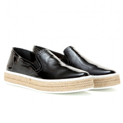 Patent Leather Slip-On Sneakers