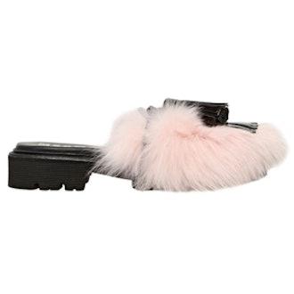 Fuzzy Pink Sandals