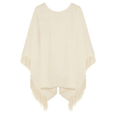 Fringed Silk Poncho