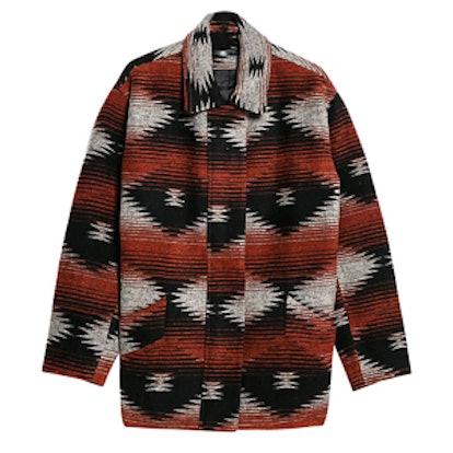 Wool-Blend Cocoon Coat