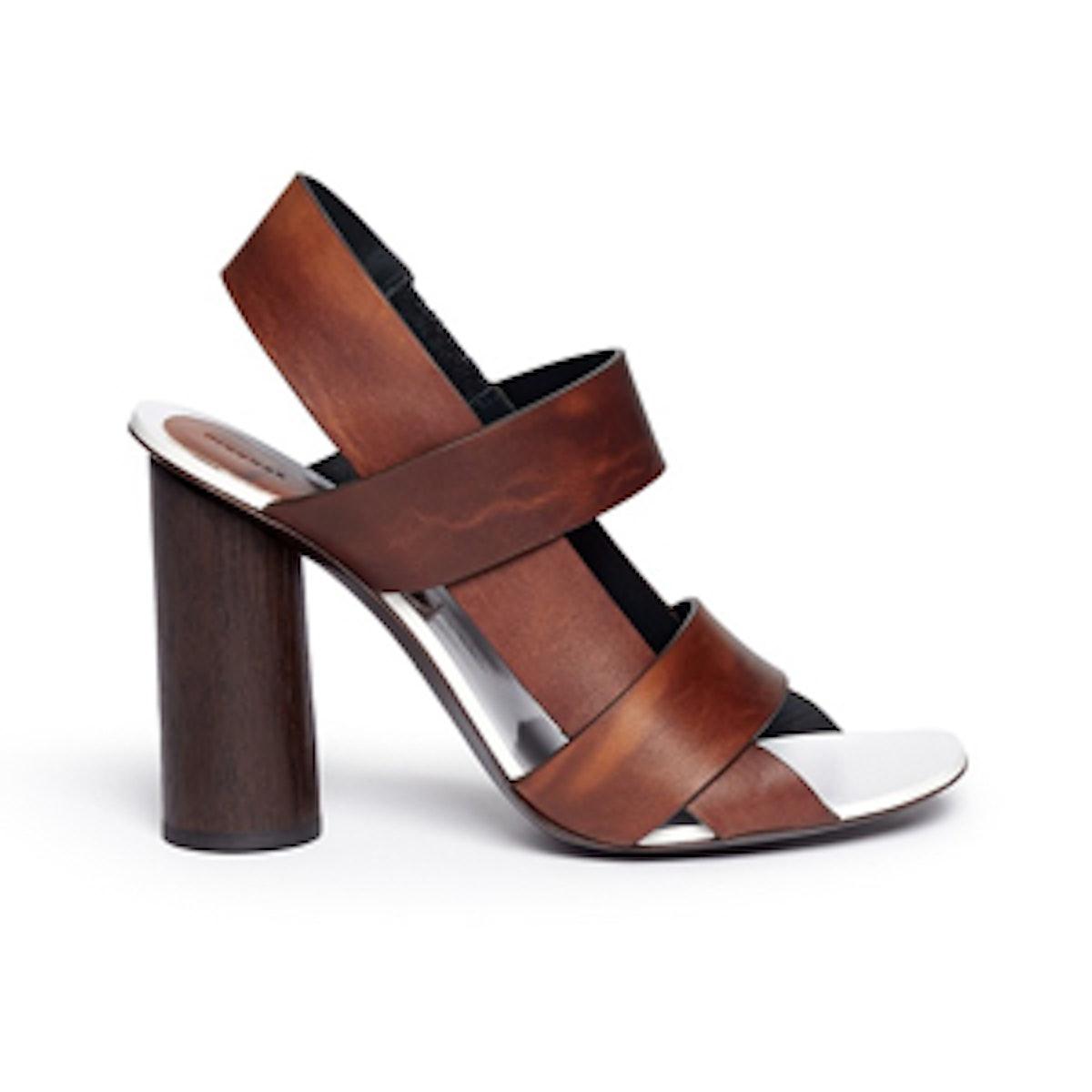 Print Leather Sandal