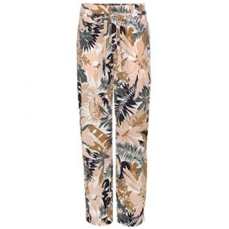 Victoria Printed Silk Trousers
