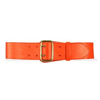 Calfskin Double-Prong Belt in Bright Orange