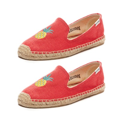 Pineapple Coral Smoking Slippers