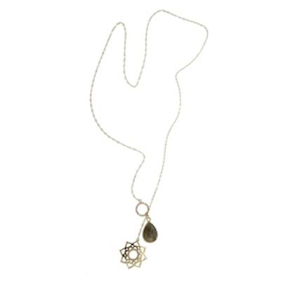 Lotus Circle Lasso Necklace