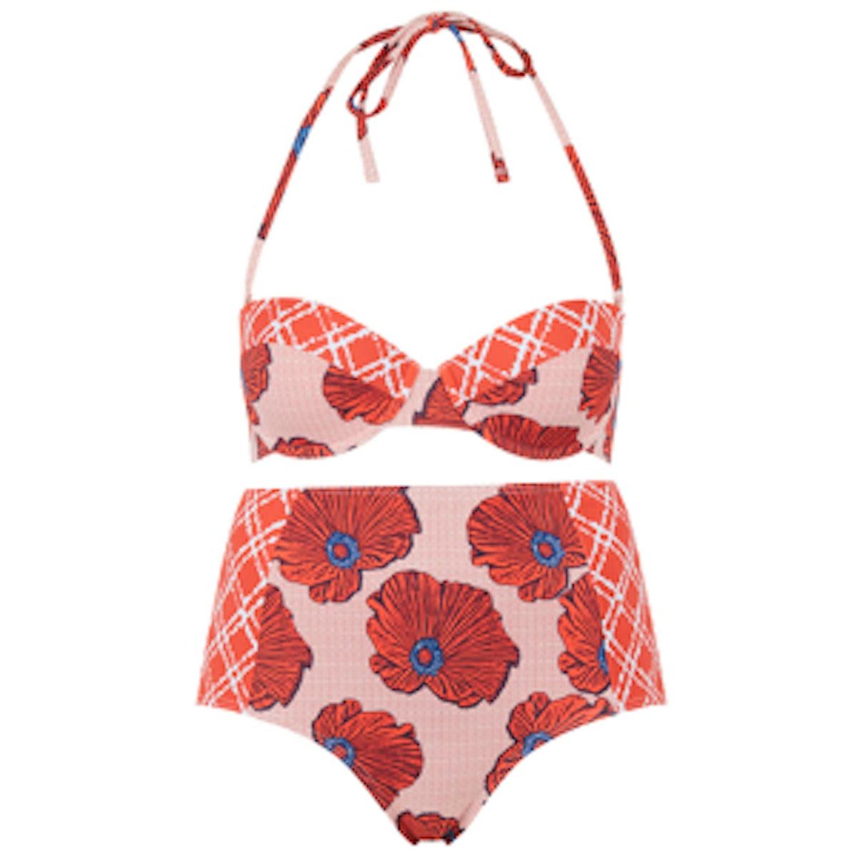 Poppy Check Bikini Set