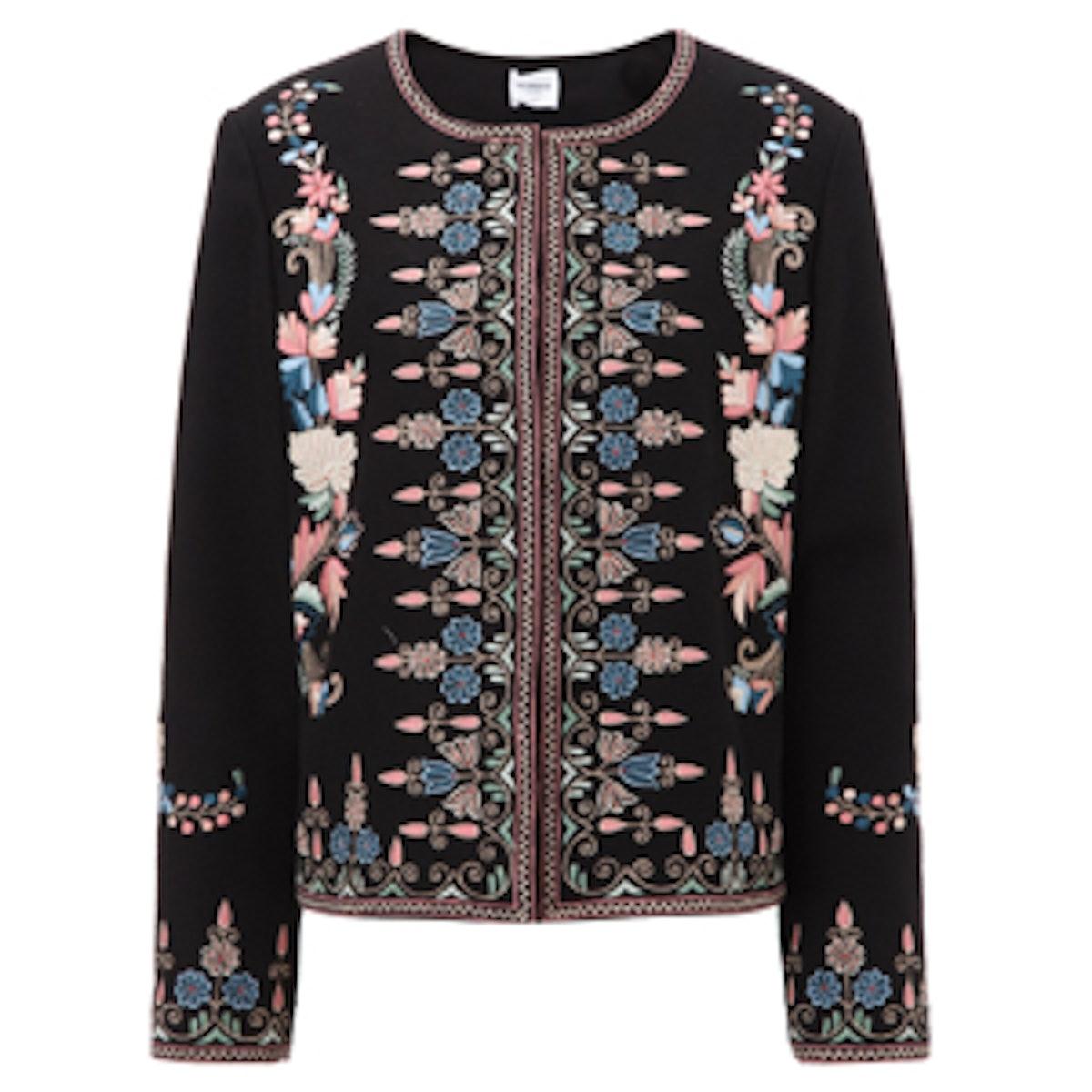 Black Embroidered Sofia Jacket