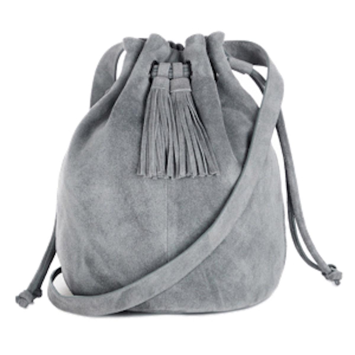 Suede Tassle Duffle Bag
