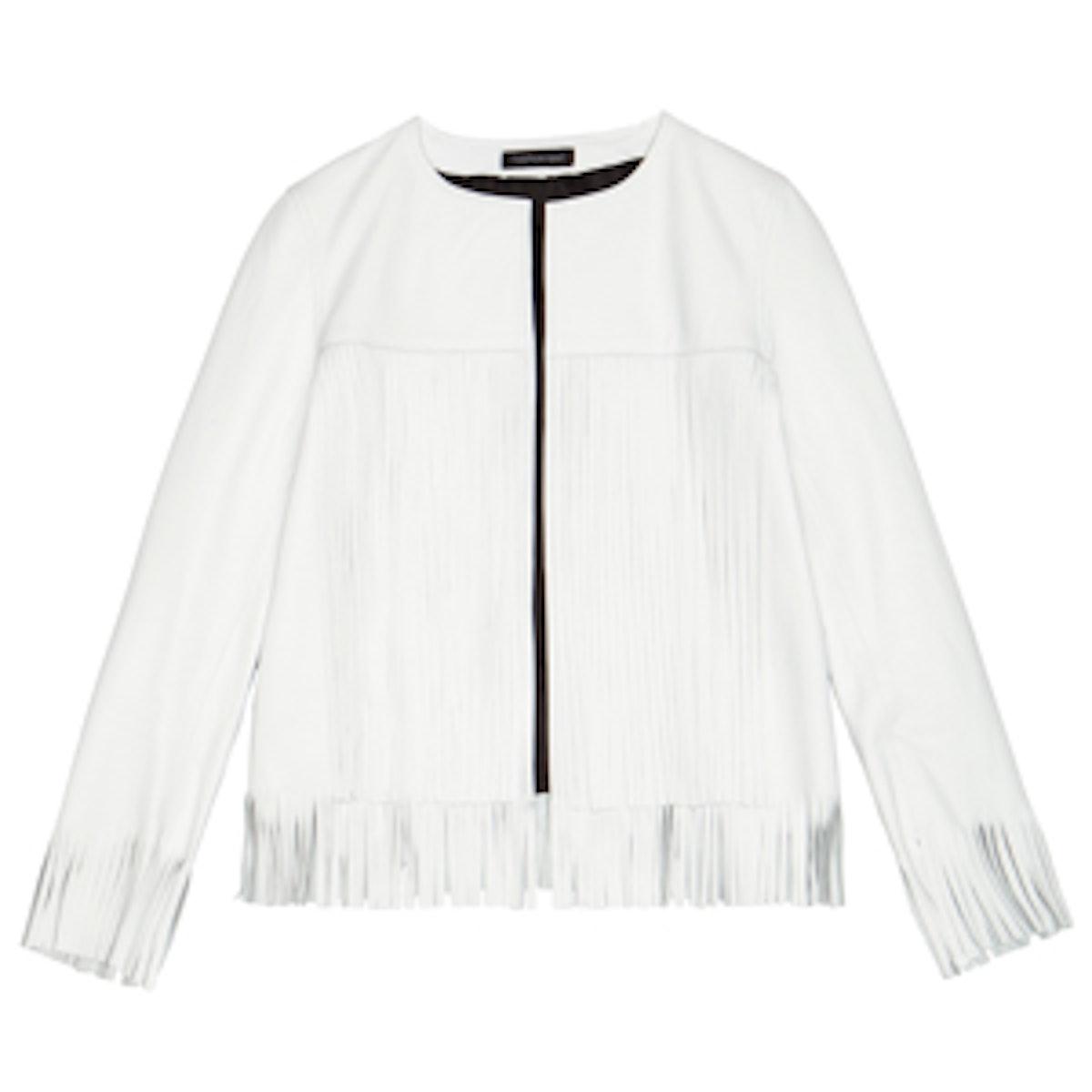 April Fringe Leather Jacket