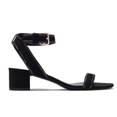 Block Heel Ankle-Strap Sandals
