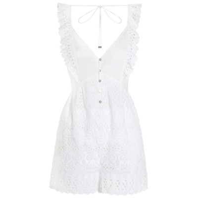 Porcelain Embroidery Playsuit