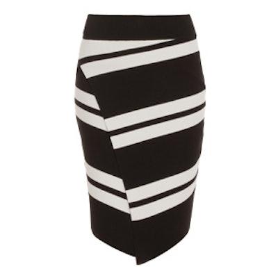Clift Stripe Pencil Skirt