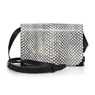 Prisma Leather & Python Envelope Bag