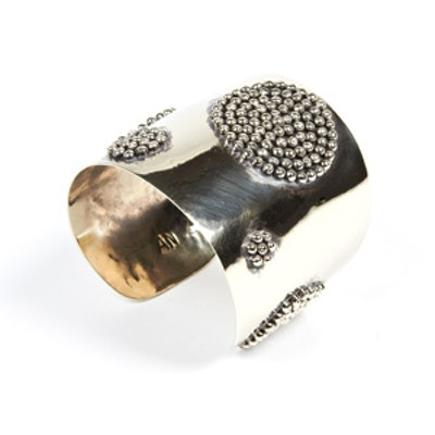 Brass Polka Dot Cuff Bracelet
