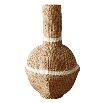 Striped Cyperus Vase