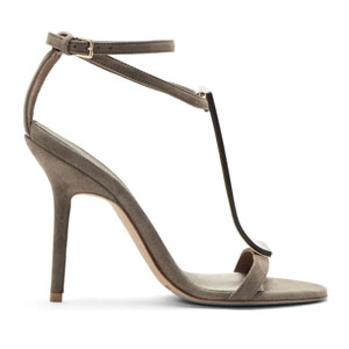 Grey Suede & Plexi Irving Heels