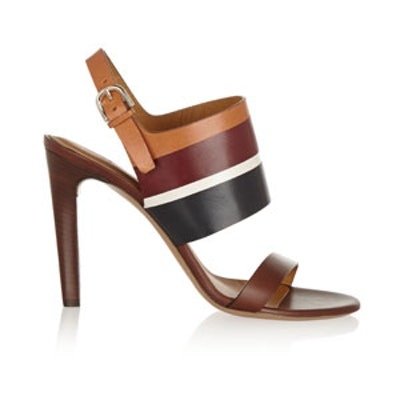 Color-Block Leather Sandals