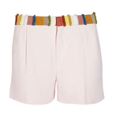Grosgrain-Trimmed Cady Shorts