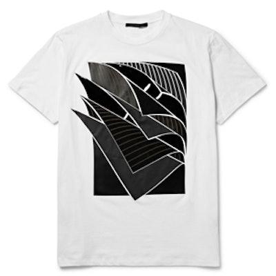 Pages Appliqued Cotton-Jersey T-Shirt