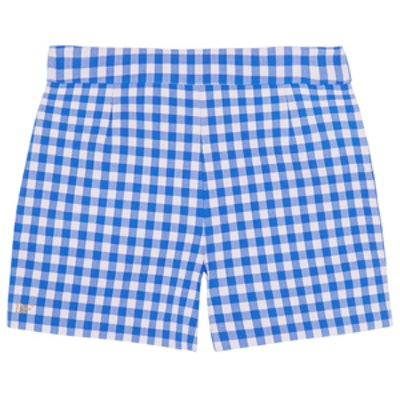Fausta Gingham Stretch-Crepe Shorts