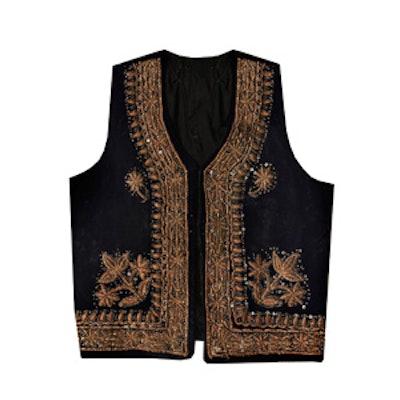 Vintage Velvet Embroidered Vest