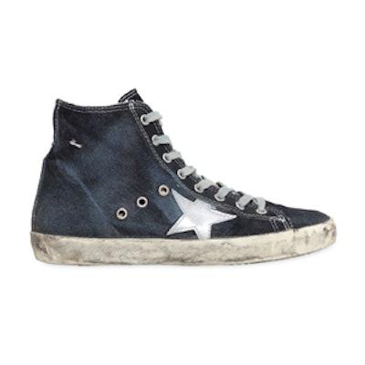 Francy Cotton Denim High Top Sneakers