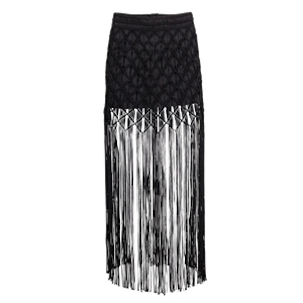 Long Fringed Skirt